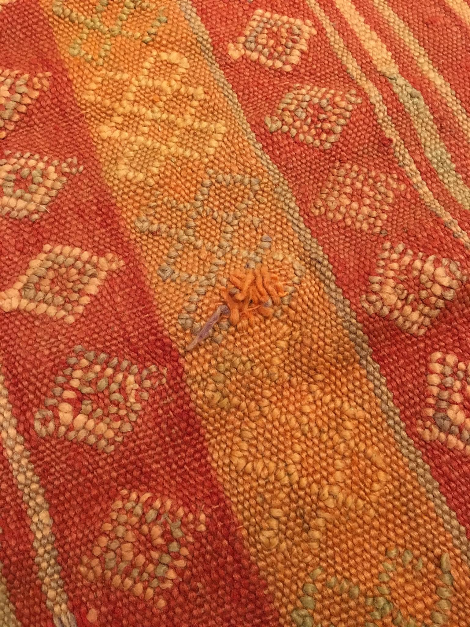 Red And Orange Flat Woven Moroccan Rug   Image 5 Of 9
