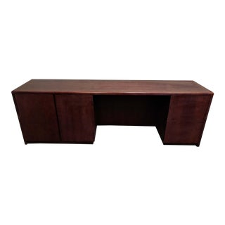 Cherry Finish Solid Wood Credenza