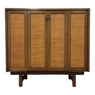 Mid-Century Cane Bar Cabinet
