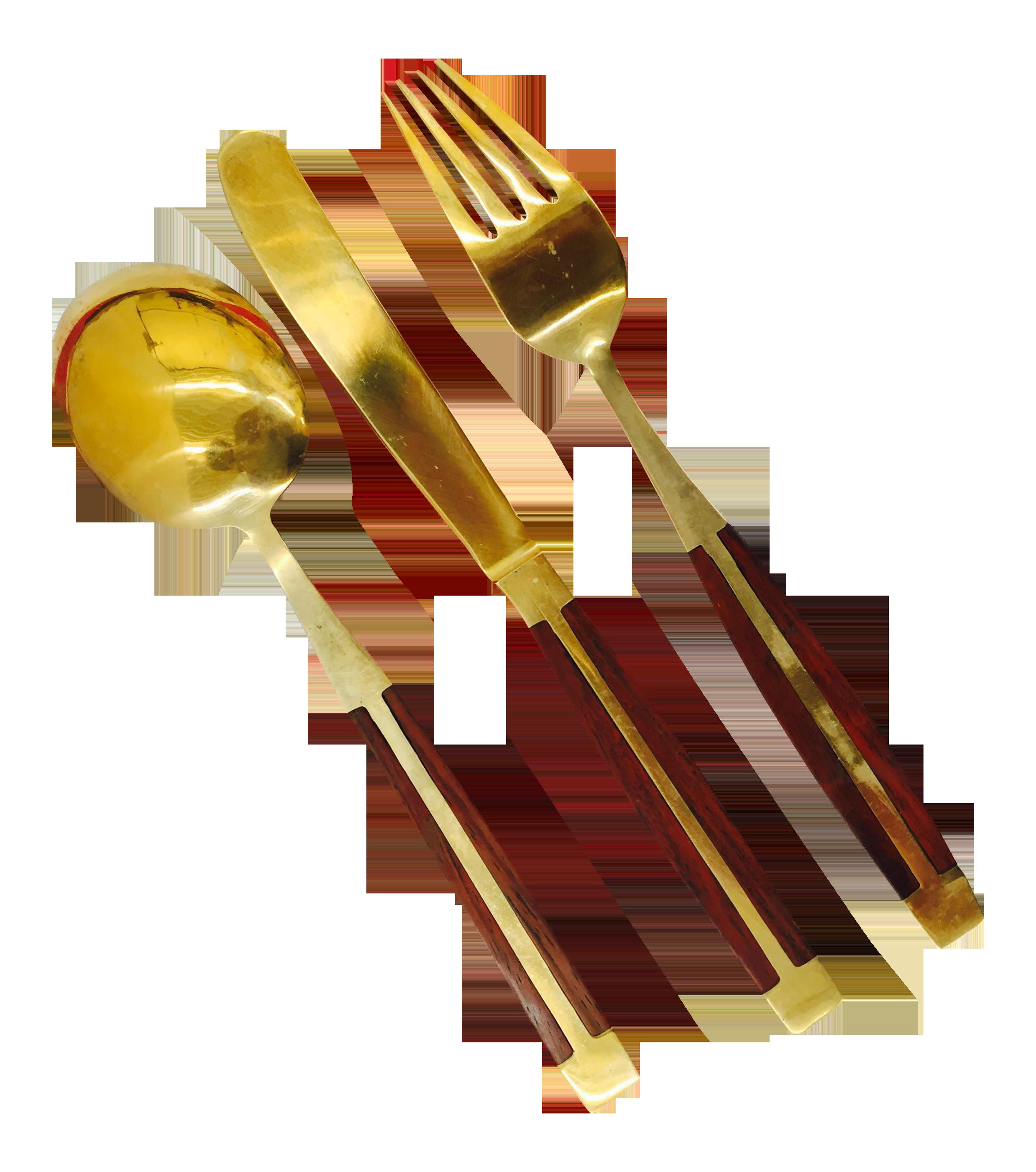 Mid Century Modern Wood amp Brass Flatware Set Set of 18  : b84b9e9f 03d8 46b5 a16c 0bf082fcc7d7aspectfitampwidth640ampheight640 from www.chairish.com size 640 x 640 jpeg 35kB