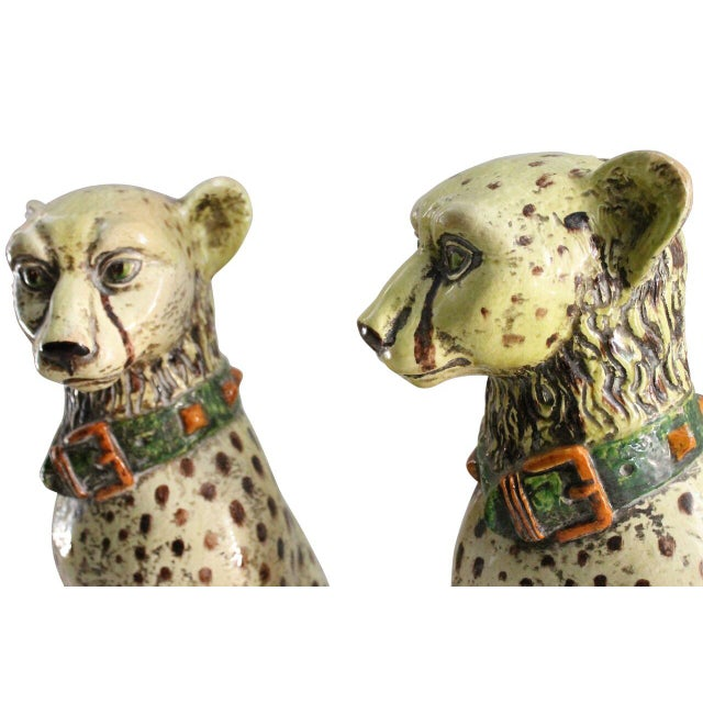 Terracotta Cheetah Statues - A Pair - Image 3 of 3