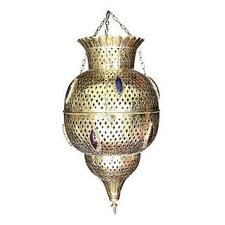 Moroccan Hand-Crafted Brass Pendant