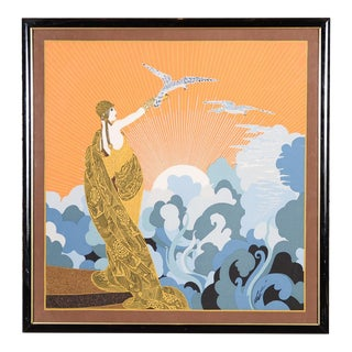 Erte Art Deco Serigraph-Wing of Victory