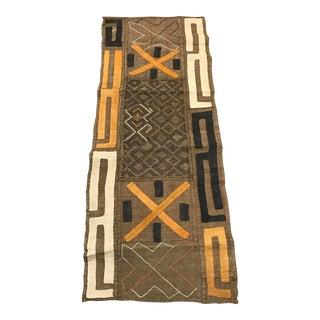 "African Tribal Art Handwoven Kuba Cloth Panel from DRC - 22"" x 54"""