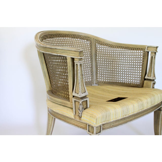 Caned Barrel Chairs - A Pair - Image 8 of 11