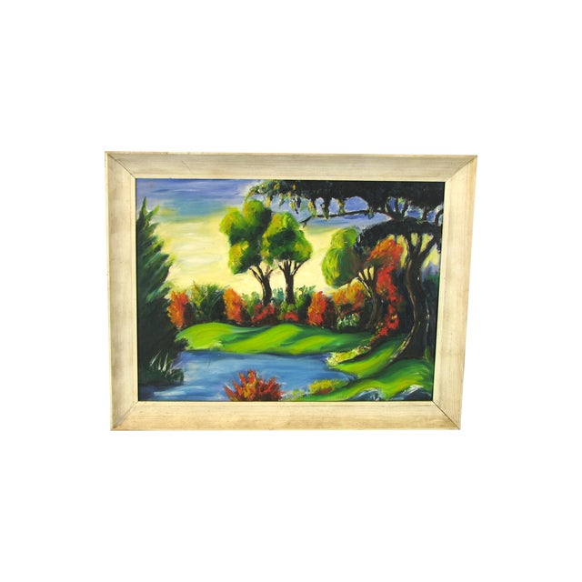 Nilo Da Corta Surreal Impressionism Oil Painting - Image 1 of 6