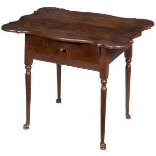 Porringer Top Queen Anne Tavern Table with Drawer