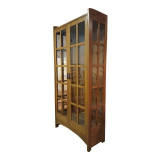 Stickley Mission-Style Display Cabinet