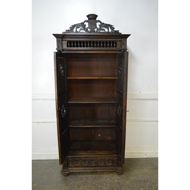 Antique Jacobean Flemish Carved Cabinet - Image 5 of 11