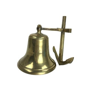 Vintage Solid Brass Wall-Mounted Anchor Bell