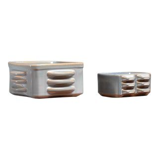 Pair of ceramic bowls by Einar Johansen for Soholm, Denmark, 1960s