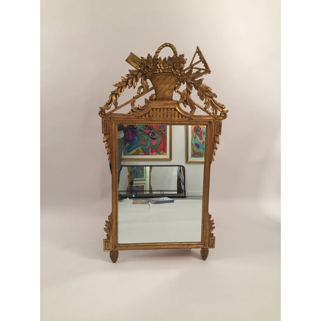Neoclassical Gold Leaf Mirror - Image 2 of 11