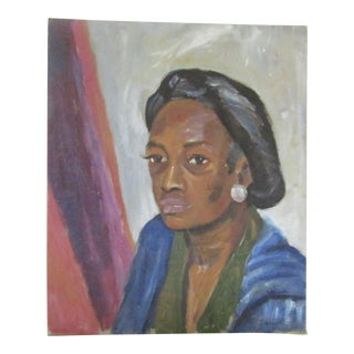 1950 George Daniell African American Woman Portrait Oil Painting