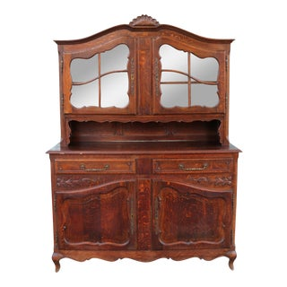 Antique Oak China Cabinet