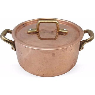 French Lidded Copper Pot