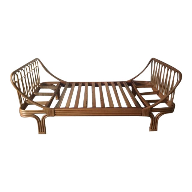 Boho Chic Rattan Twin Bed - Image 1 of 5