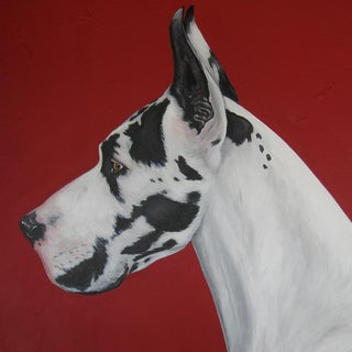 """""""Best in Show"""" Great Dane Acrylic Painting"""