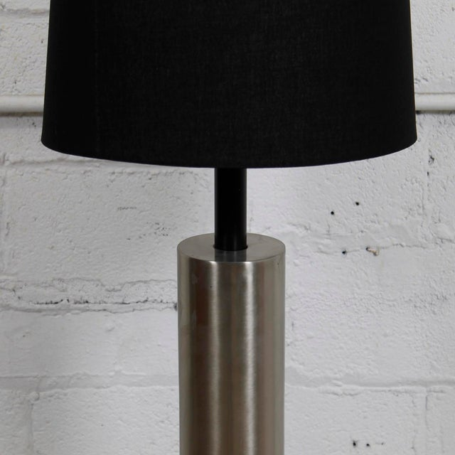 Image of Mid-Century Modern Lamp With a Brushed Chrome Cylinder