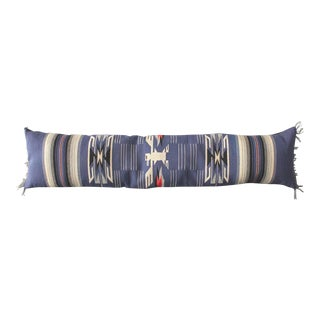 Monumental Mexican Indian Weaving Bolster Pillow with a Eagle Motif
