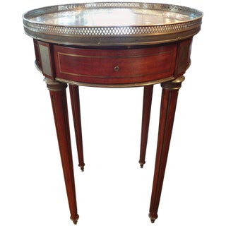 19th Century French Louis XVI Style Walnut Bouillotte Table