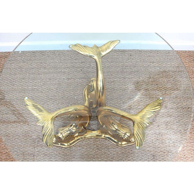 brass dolphin coffee table chairish. Black Bedroom Furniture Sets. Home Design Ideas