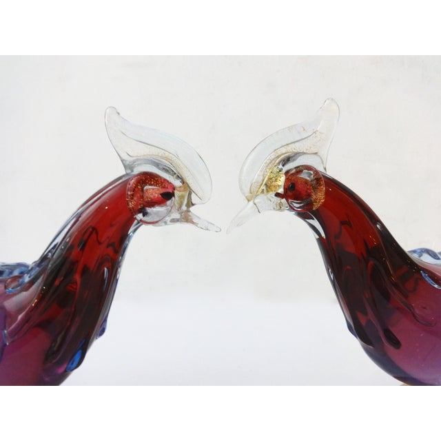 Murano Art Glass Birds - A Pair - Image 7 of 8