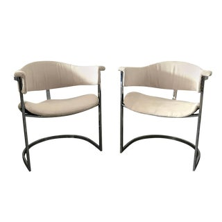Pair of Vittorio Introini for Mario Sabot Chrome Armchairs