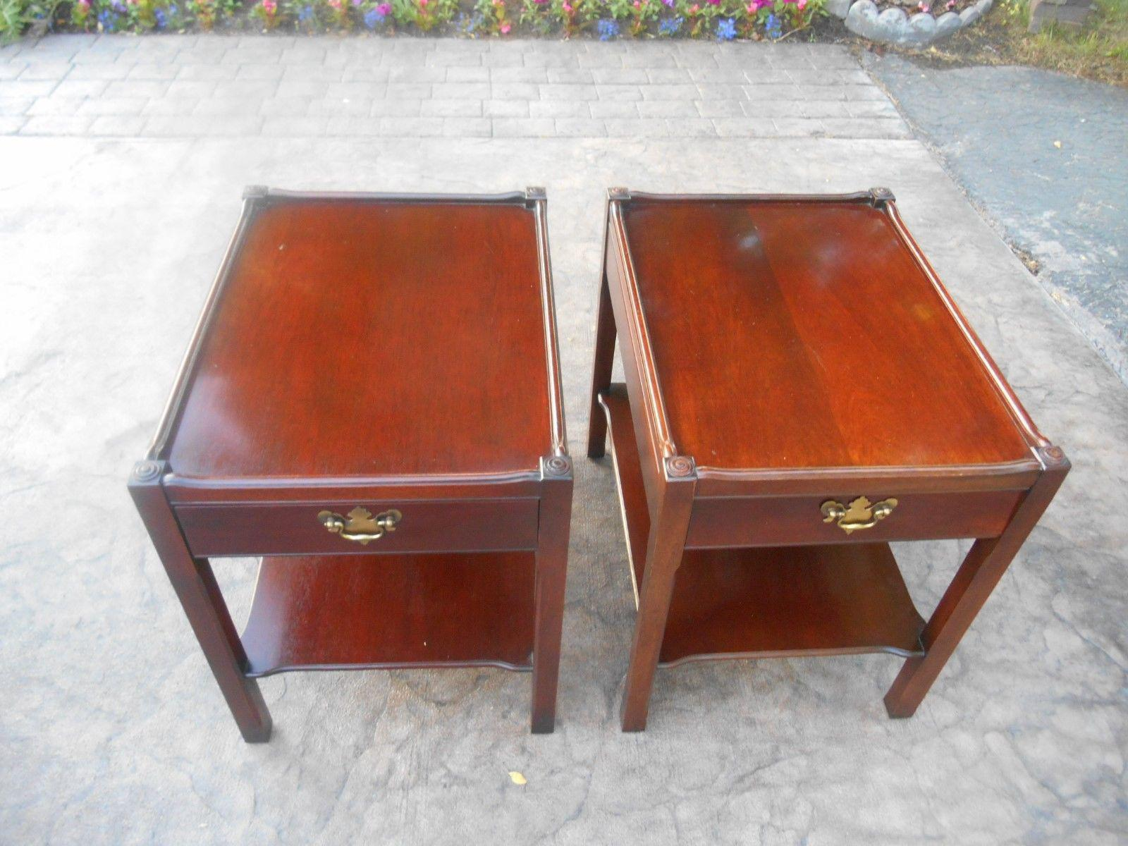 James River Two Tier End Tables   A Pair   Image