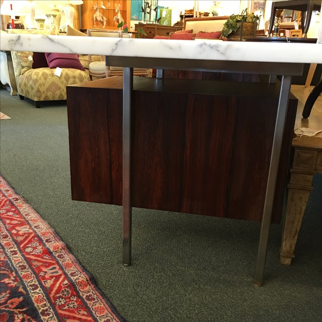 Mid-Century Executive Desk, Marble Top - Image 10 of 11