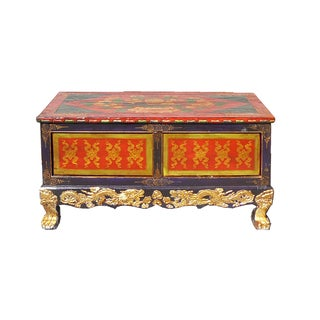 Chinese Tibetan Golden Craw Legs Low Coffee Table