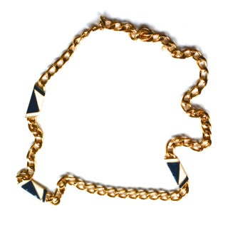 Monet Navy Chain Necklace