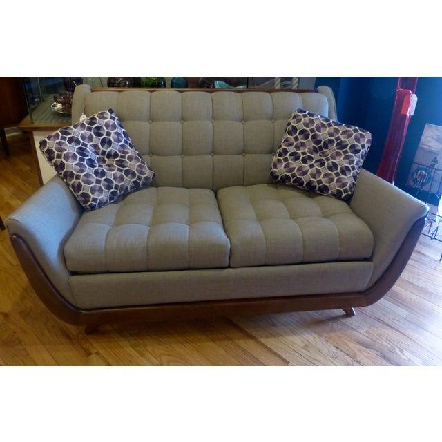 Bassett Mid Century Persall Style Sleeper Sofa - Image 4 of 6