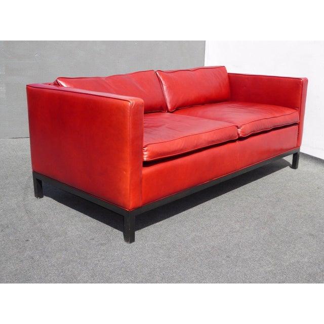 Designer Contemporary Red Leather Sofa