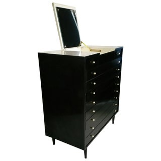 Martinsville Ebonized Fold Out Mirror Chest