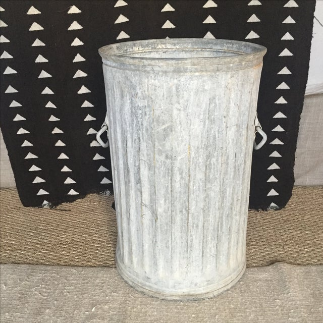Vintage Galvanized Metal Barrel Bucket - Image 3 of 9