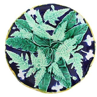 Antique English Majolica Wall Plate