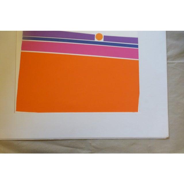 """Orange Landscape"" a Mod Print by Calvin Libby - Image 5 of 8"