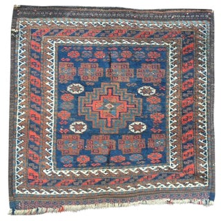 "Antique Turkish Heybe Saddle Bag Rug - 2'2"" X 2'2"""