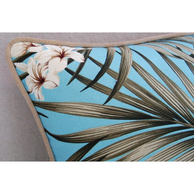Custom Tropical Palm & Orchid Pillows - A Pair - Image 11 of 11