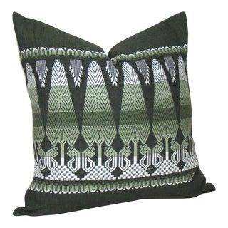 Handwoven Guatemalan Tree Motif Pillow Cover