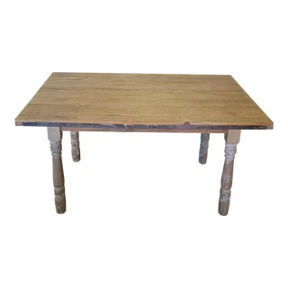 Rustic Reclaimed Wood Farmhouse Tavern Dining Table