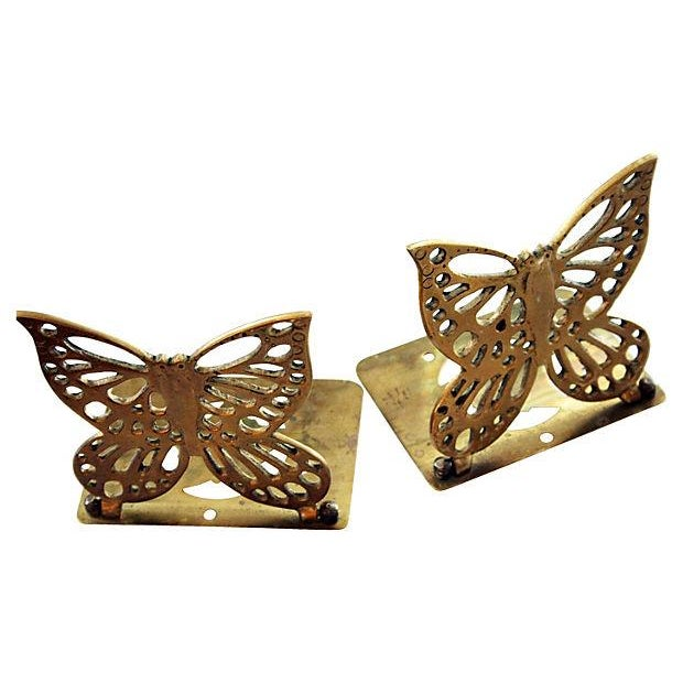 Brass Butterfly Bookends - a Pair - Image 3 of 5