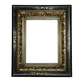 Antique American Ebonized Wood Frame