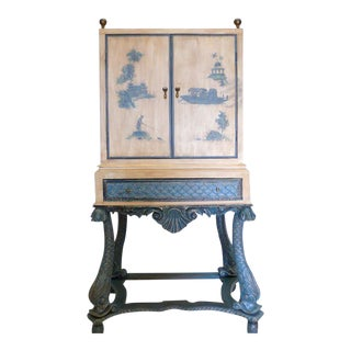 Vintage Chinoiserie Painted Cabinet