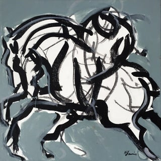 Polo Match I Abstract Painting