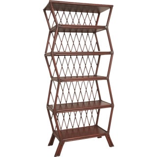 David Francis Furniture Aged Chinese Red Etagere