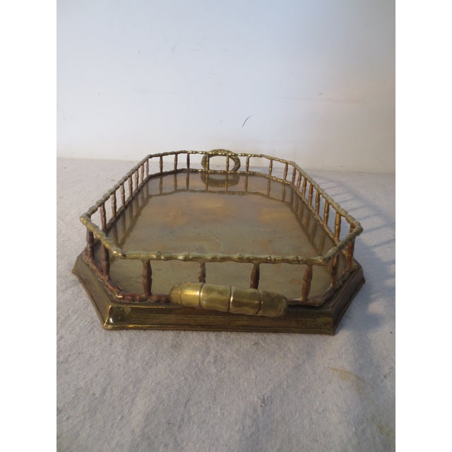 60s Brass Serving Tray With Gallery - Image 5 of 7
