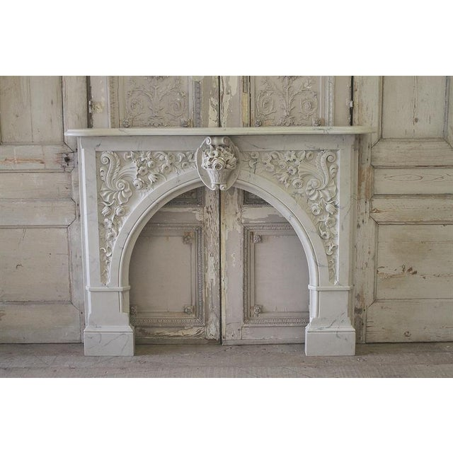 20th Century Louis XV Style Cultured Marble Fireplace Mantle - Image 2 of 6
