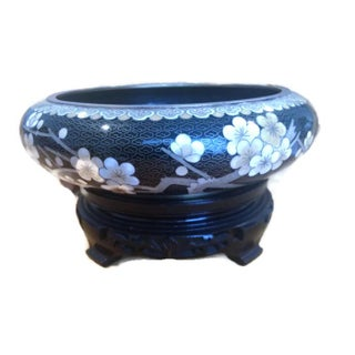 Vintage Decorative Chinese Cloisonne Enamel Bowl