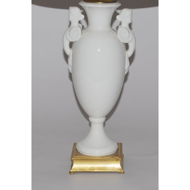 Neoclassical Lamp W/ Marble Lampshade - Image 5 of 5